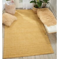 Nourison Perris Hand Woven Gold Area Rug - 5' X 7'6