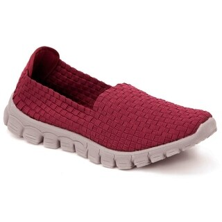 Zee Alexis Women's Stella Woven Slip On Shoe Red