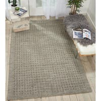 """Nourison Perris Hand Woven Charcoal Area Rug - 5' x 7'6"""""""