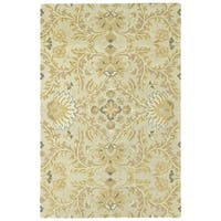 Hand-Tufted Tannica Ivory Wool Rug - 2' x 3'