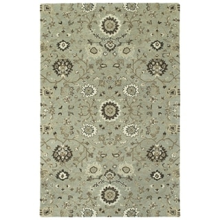 Hand-Tufted Tannica Mint Wool Rug - 2' x 3'