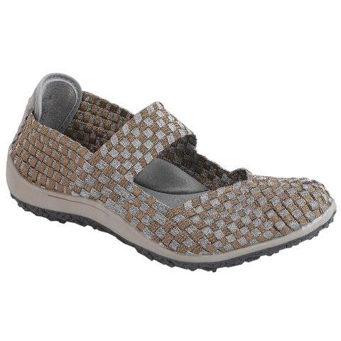 Zee Alexis Women's Sammi Woven Mary Jane Shoe Pewter Bronze