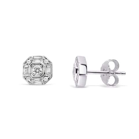 10Karat White Gold 1/3cttw Diamond Earrings