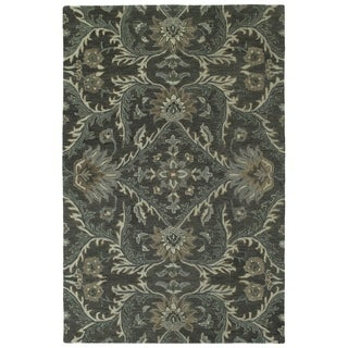 Hand-Tufted Tannica Charcoal Wool Rug - 2' x 3'
