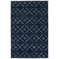 Hand-Tufted Hale Navy Wool Rug - 2' x 3'