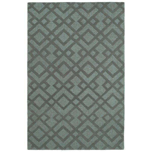 Hand-Tufted Hale Spa Wool Rug - 2' x 3'