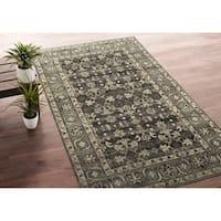 Bombay Home Zion Charcoal/ Grey Wool Handmade Area Rug - 8' x 10'
