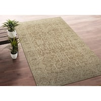 Hand-Knotted Zion Khaki Wool Rug - 8' x10'