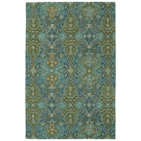 Hand-Tufted Tannica Peacock Wool Rug - 8' x10'