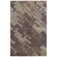 Hand-Tufted Kenzo Purple Wool Rug - 8' x10'