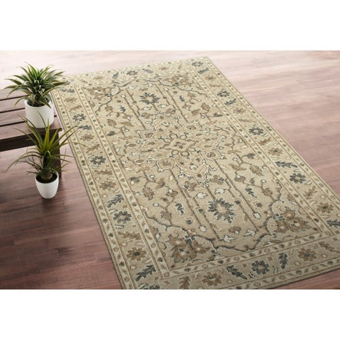 Hand-Knotted Zion Sand Wool Rug - 9' x 12'