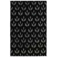 Hand-Tufted Hale Black Wool Rug - 8' x10'