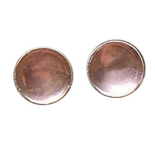 Handmade Recycled Antique Pink Depression Glass Sterling Silver Post Earrings (United States)