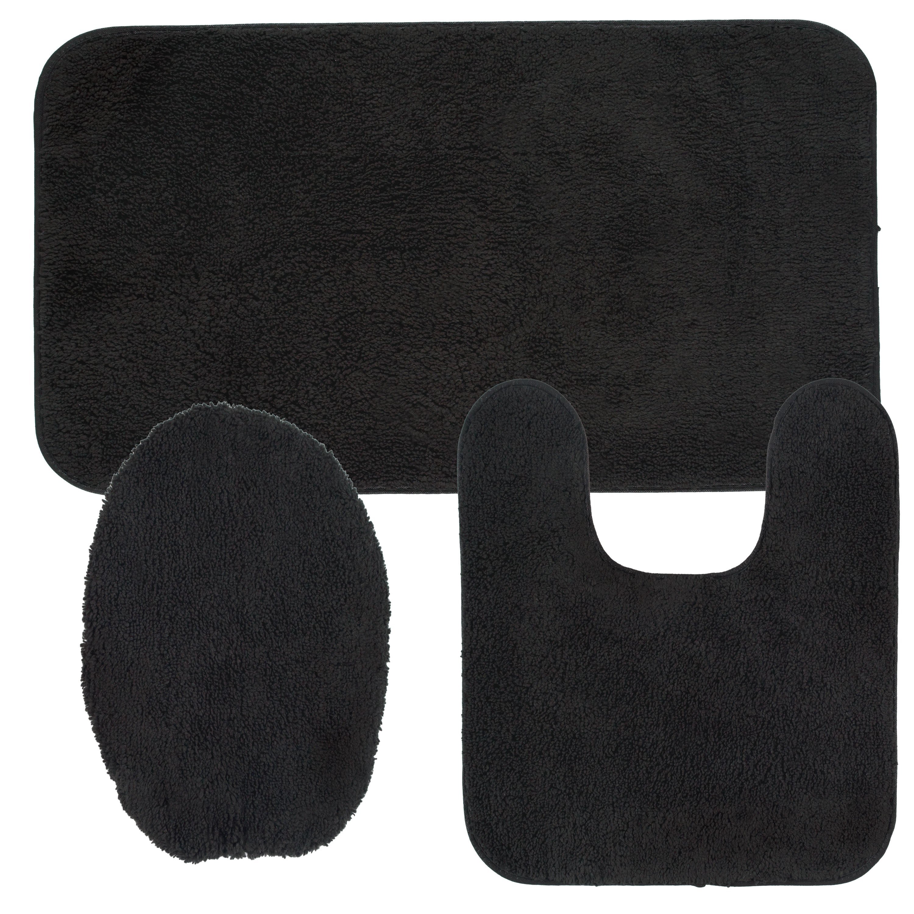 Mohawk Cascade Bath Rug Set Contains 1 8x2 6 8x1 8 And 4 5x1 5 Toilet Lid Cover X 2
