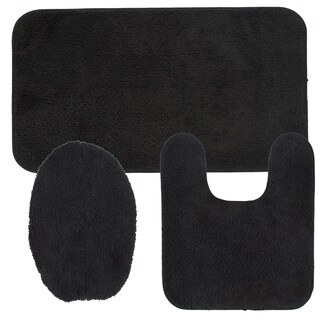 Mohawk Cascade Bath Rug Set (Set Contains: 1'8x2'6, 1'8x1'8, and 1'4.5x1'6.5 toilet lid cover)