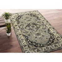 Hand-Knotted Zion Grey Wool Rug - 8' x10'