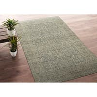 Bombay Home Zion Spa Blue Wool Handmade Rug - 9' x 12'