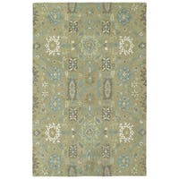 Hand-Tufted Tannica Sage  Wool Rug - 9' x 12'
