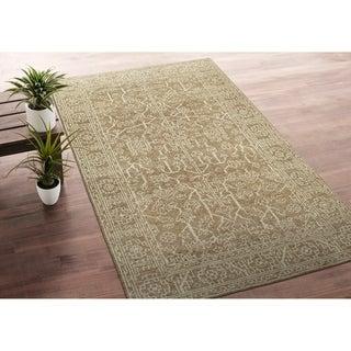 Bombay Home Handmade Zion Khaki Wool Rug - 9' x 12'