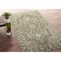 Hand-Knotted Zion Grey Wool Rug - 9' x 12'