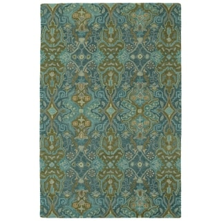 Hand-Tufted Tannica Peacock Wool Rug - 9' x 12'
