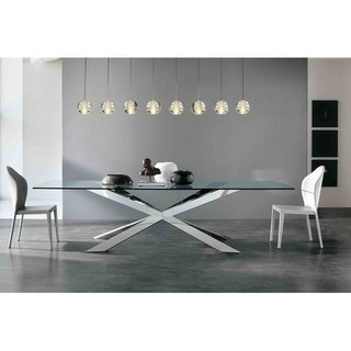 Link to Orion 8 Light Rectangular Glass Globe LED Chandelier, Brushed Nickel  Similar Items in Chandeliers
