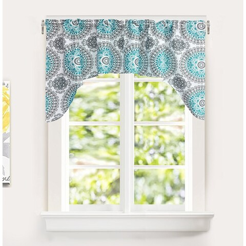 DriftAway Bella Medallion Pattern Kitchen Swag valance