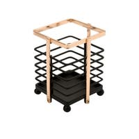 Macbeth Collection Small Cutlery Basket in Rose Gold