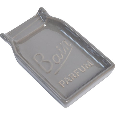 Evideco Mason Jar Collection Bathroom Soap Dish Cup Taupe
