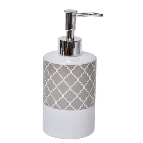 Evideco Collection Escal Bathroom Soap and Lotion Dispenser - Taupe