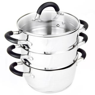 Complete Cuisine 4 pc Stainless Steel Steamer Set