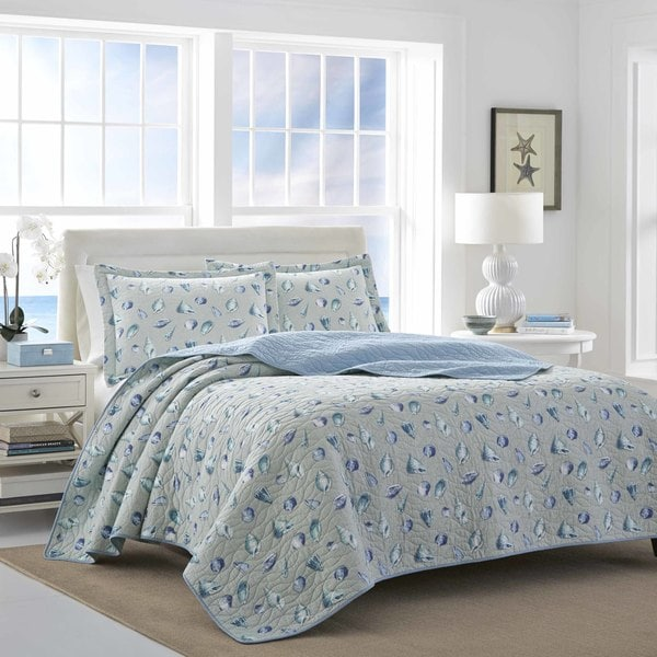 Laura Ashley Atoo Bay Blue Quilt Set