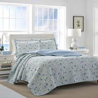 Laura Ashley Cockatoo Bay Blue Quilt Set