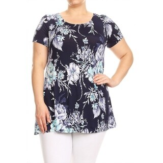 Women's Plus Size Floral Pattern Top