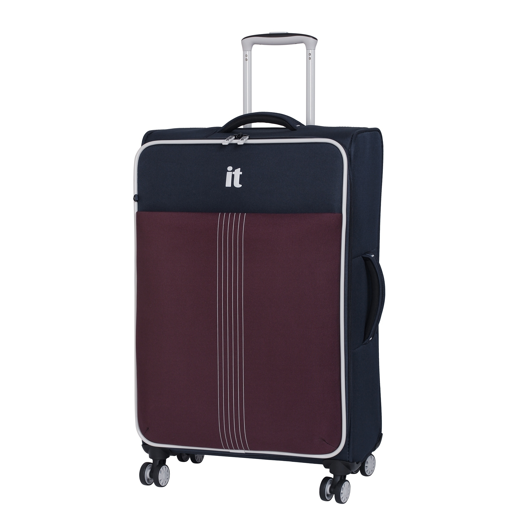 27.4 Purple IT Luggage Filament 27.4-inch Lightweight Expandable Spinner Suitcase