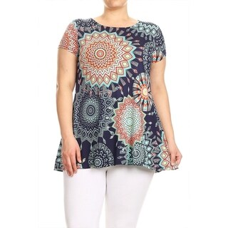 Women's Plus Size Floral Pattern Top (3 options available)