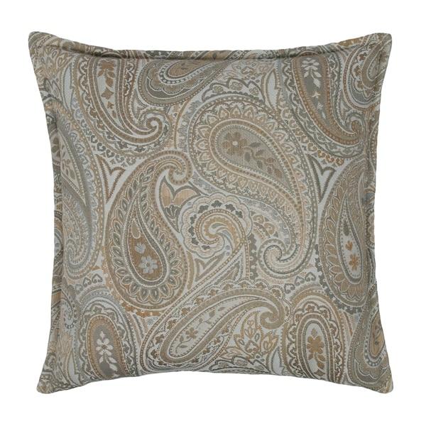 Sherry Kline Springfield Paisley Grey 20-inch Decorative Pillow