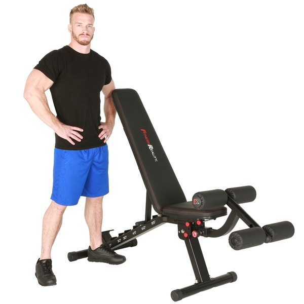Shop Fitness Reality 2000 Super Max Xl High Capacity Weight Bench Black Free Shipping Today