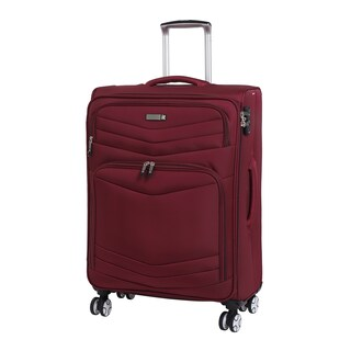 it luggage Intrepid 26.6-inch Expandable Spinner Suitcase (Option: Red)