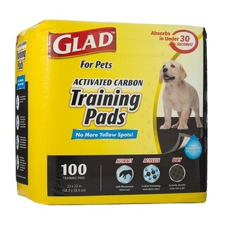 3-Pack Glad for Pets Activated Carbon Training Pads, 300 Count.