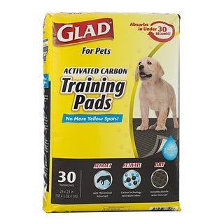 3-Pack Glad for Pets Activated Carbon Training Pads, 90 Count.