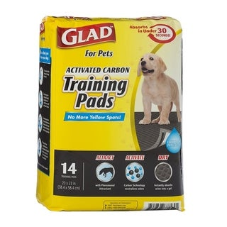 3-Pack Glad for Pets Activated Carbon Training Pads, 42 Count.