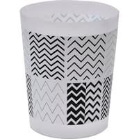 Evideco Zigzag Printed Floor Trash Can Bin Waste Basket 4.5-Liters/1.2-Gal