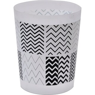 Evideco Zigzag Printed Floor Trash Can Bin Waste Basket 4.5-Liters/1.2-Gal