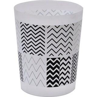 Evideco Zigzag Printed 4.5-liter Floor Waste Basket