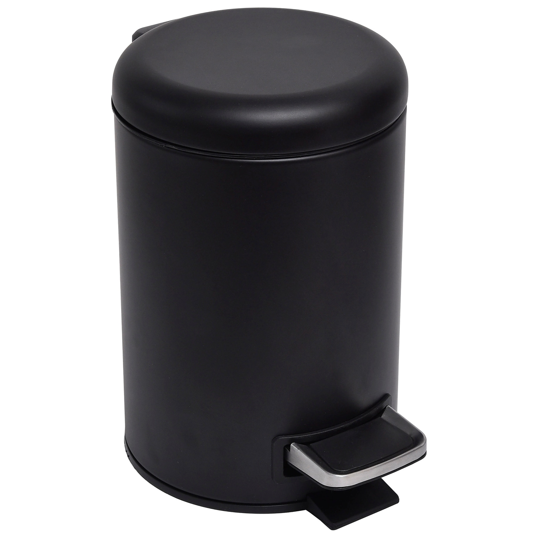 Shop For Evideco Soft Close Small Round Metal Bathroom Floor Step Trash Can Get Free Delivery On Everything At Overstock Your Online Bathroom Accessories Store Get 5 In Rewards With Club O 20538660