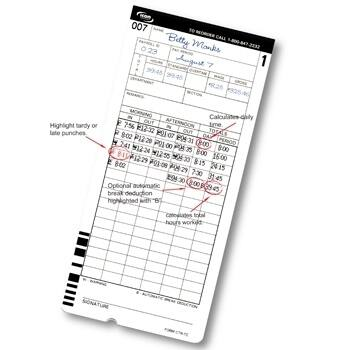 CT-900 Time Cards /Pack of 1000