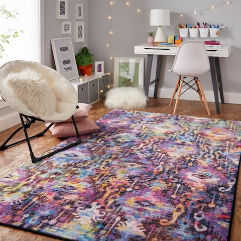 Silver Orchid Baxley Prismatic Area Rug - 5' x 8'
