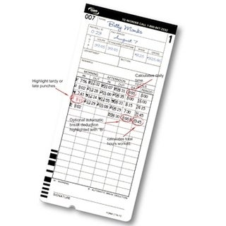 CT-900 Time Cards /Pack of 200