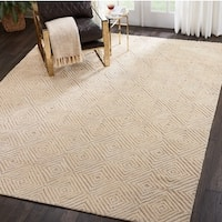 Nourison Modern Deco Hand Tufted Taupe/Ivory Area Rug - 8' x 10'6